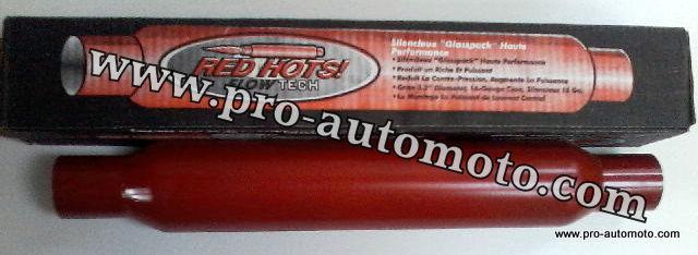Rezonátor Flowtech Red Hot 55 mm (Flowtech vstup 55 mm)