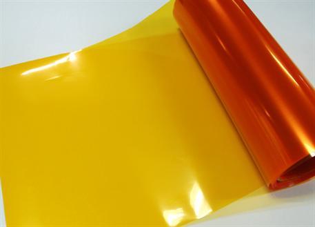 Transparentní fólie oranžová (Folie na světla)