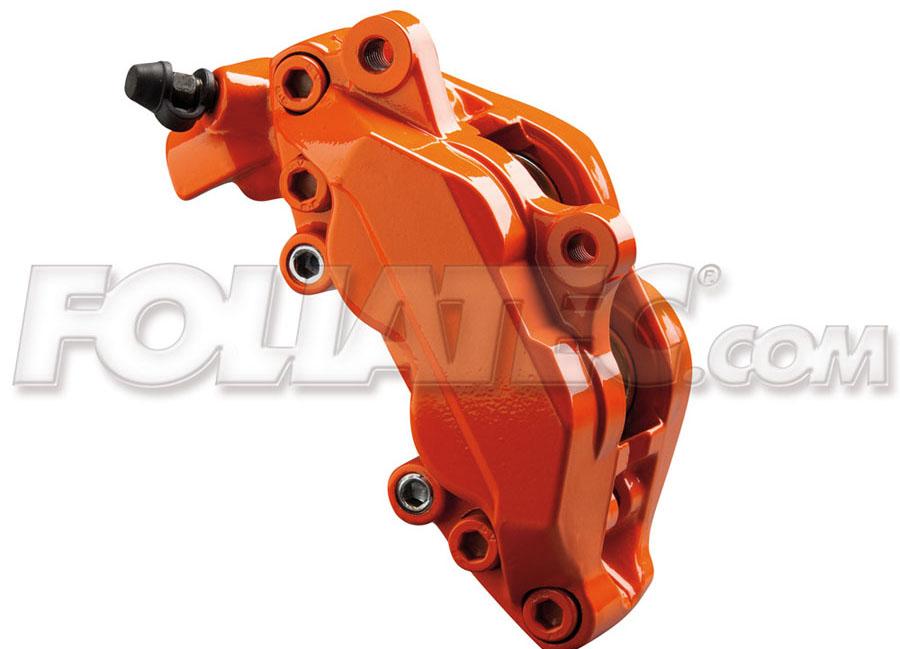 Barva na brzdy oranžová Foliatec (Flame orange Foliatec)