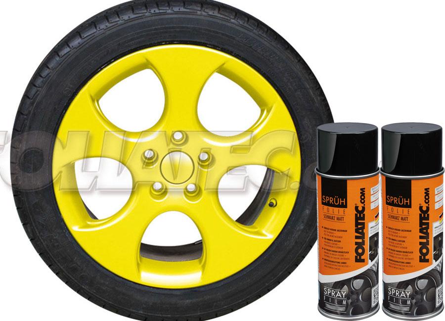 Fólie ve spreji DIP žlutá lesklá 800ml (FOLIATEC fólie ve spreji)