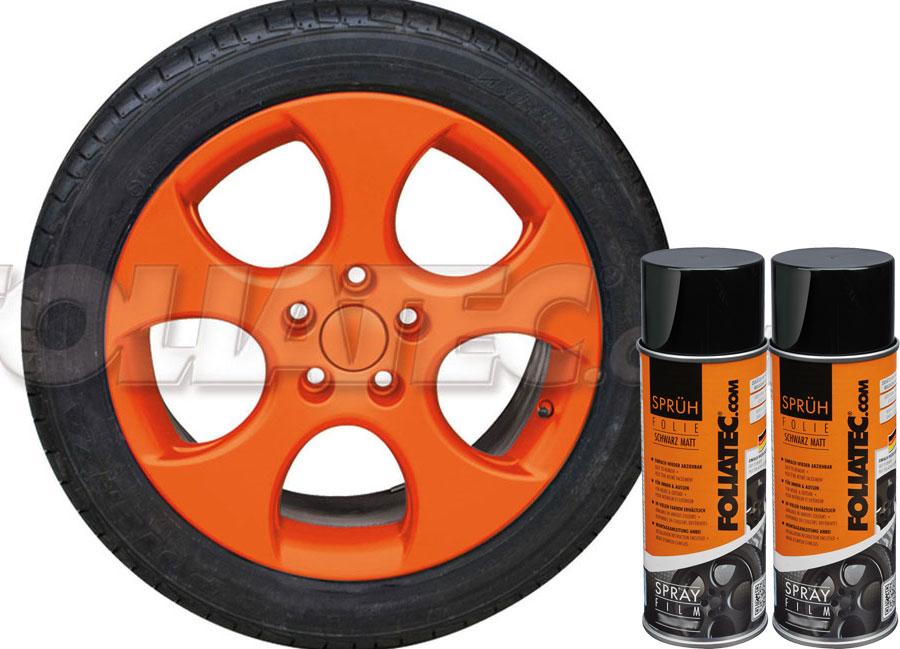 Fólie ve spreji DIP oranžová matná Foliatec 800ml (FOLIATEC fólie ve spreji dip)