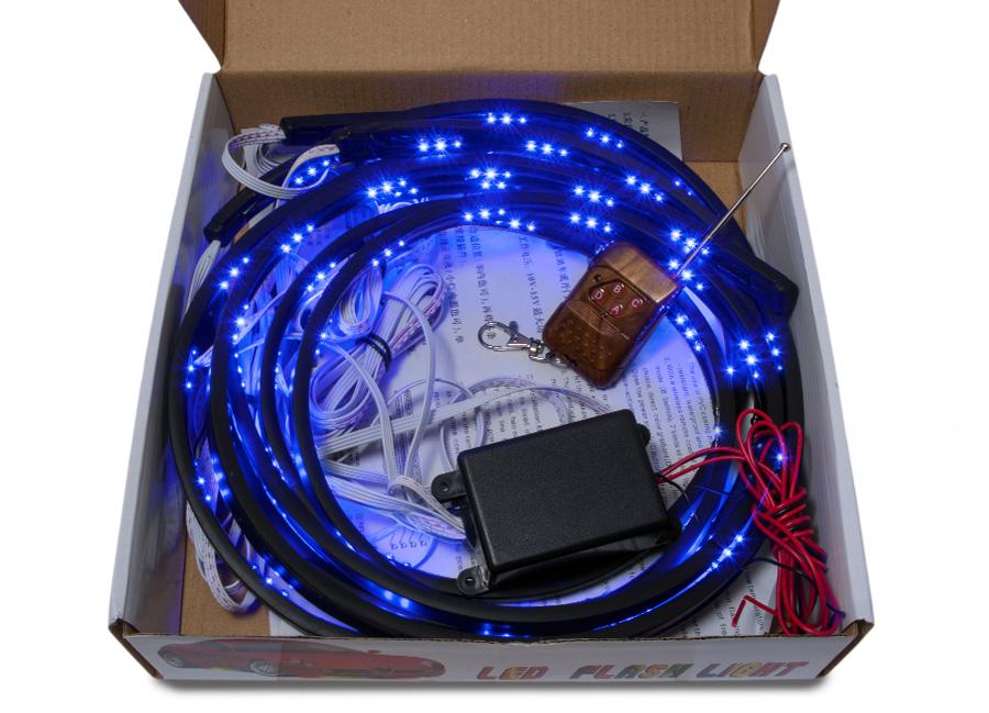 Flexibilní LED neony modré (s dálkovým ovládáním)