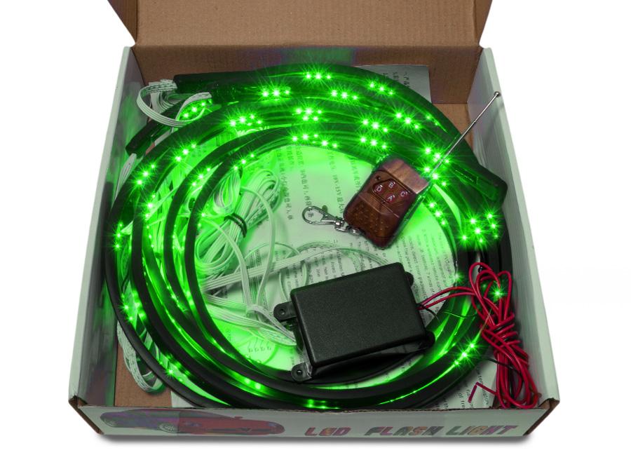 Flexibilní LED neony zelené (s dálkovým ovládáním)
