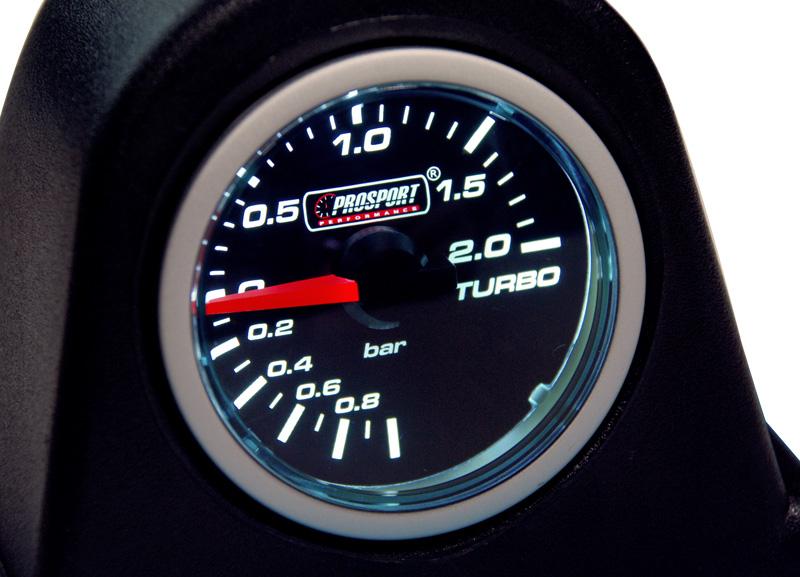 Smoke Lens přídavný ukazatel tlaku turba mechanický -1 až 2bar