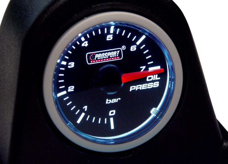 Smoke Lens přídavný ukazatel tlaku oleje 0-7bar