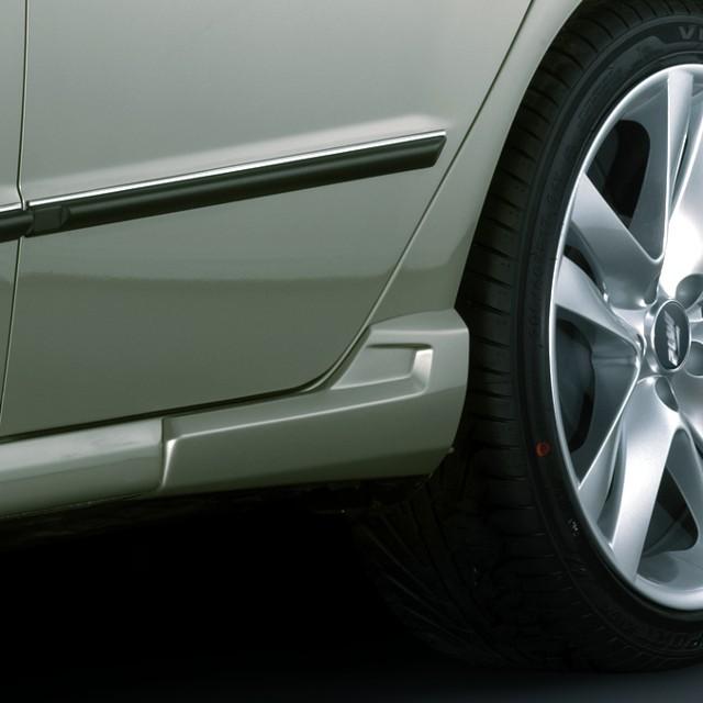 Rozšíření prahů, ABS - stříbrný mat Š. Fabia Facelift
