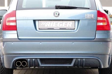Spoiler pod originální zadní nárazník Škoda Octavia II