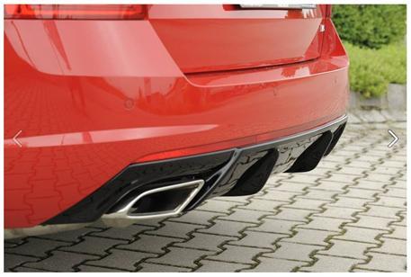 Škoda Octavia III RS difuzor zadního nárazníku (bez tažného zařízení)