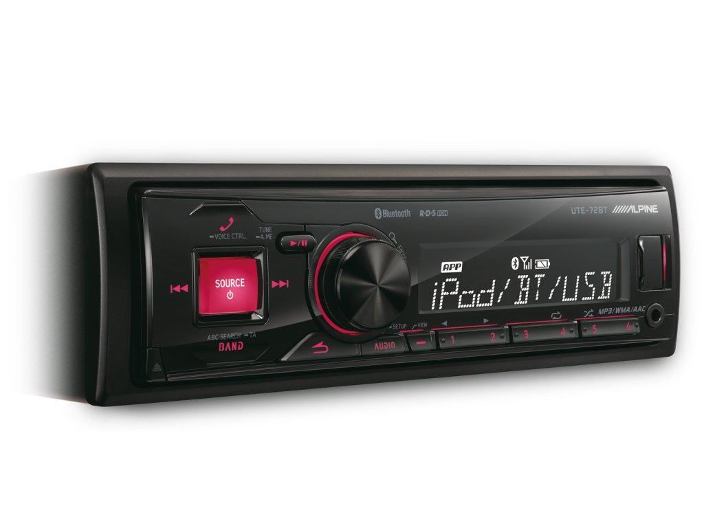 ALPINE UTE-72BT (Autorádio bez CD mechaniky,ale s Bluetooth, USB, atd)