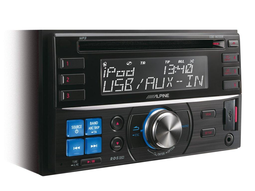 ALPINE CDE-W233R (2-DIN CD přijímač s velkým displejem)