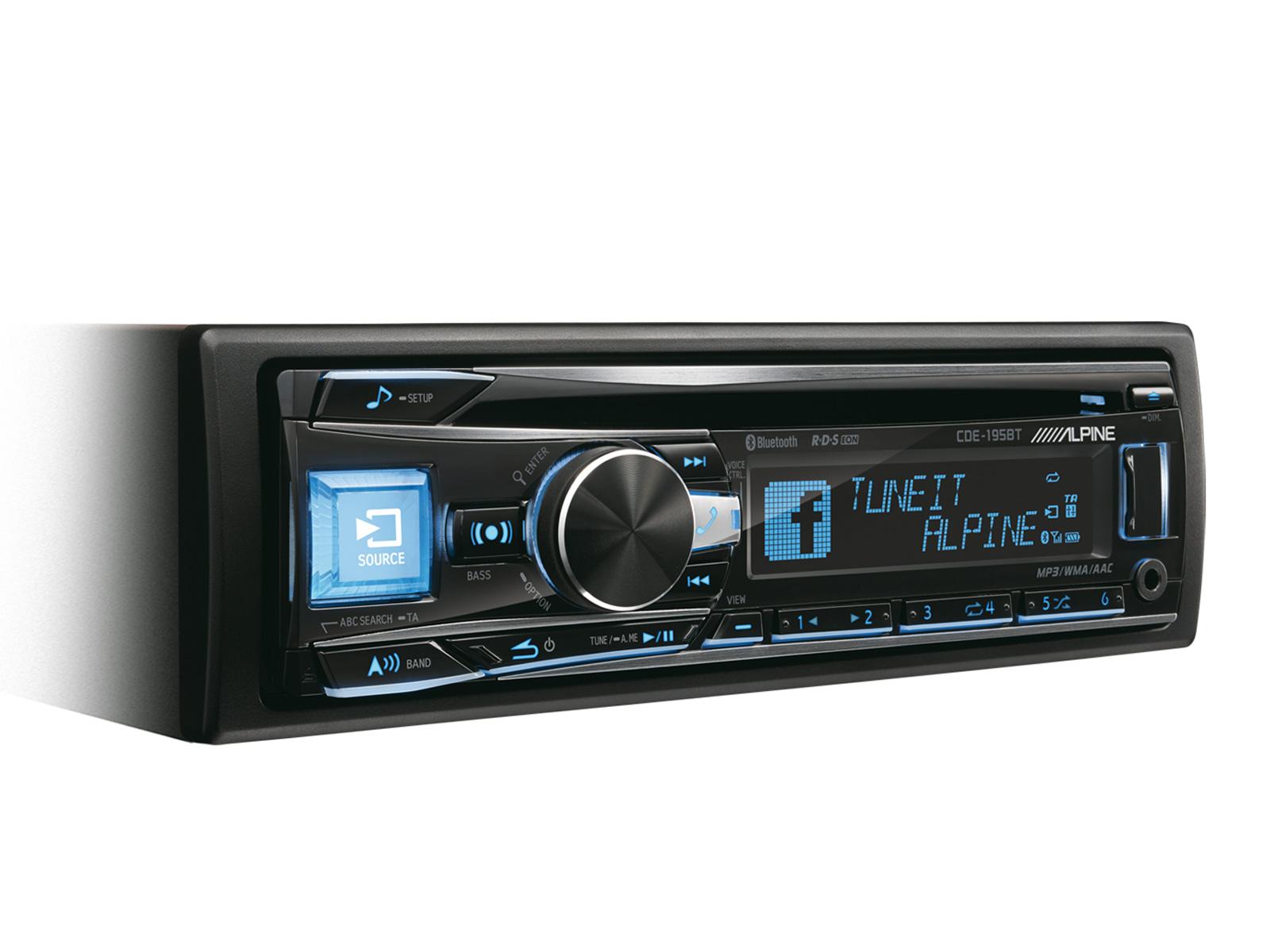 ALPINE CDE-195BT (CD, MP3 přehrávač s USB, Bluetooth modulem, AUX vstupem)