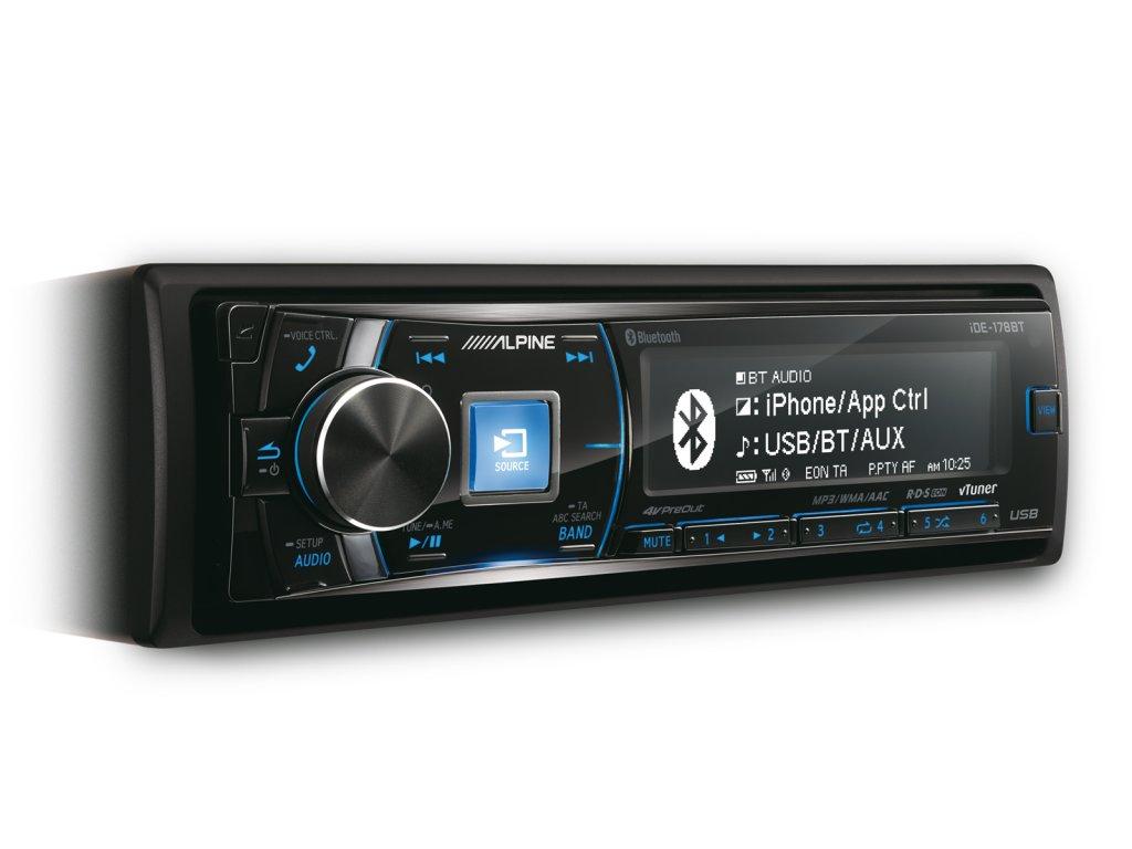 ALPINE IDE-178BT (Bezmechanikový přijímač digitálních médií s Bluetooth )