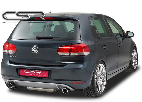Golf VI spoiler v designu GTI pod zadní nárazník (koncovky výfuku vlevo a vpravo)