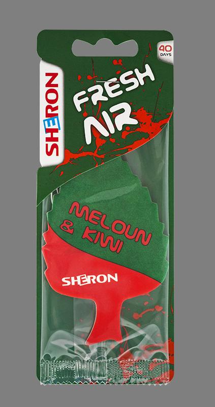 Osvěžovač vzduchu Meloun-Kiwi (stromeček meloun-kiwi Sheron)
