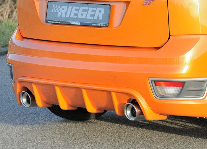 Ford Focus II ST spoiler pod zadní nárazník s lamelami