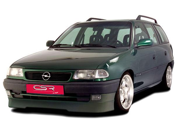 Opel Astra F facelift spoiler ve pod originální přední nárazník