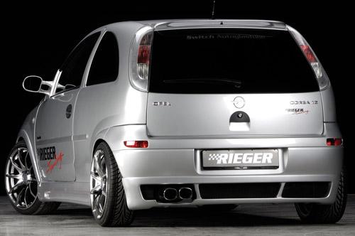 Opel Corsa C spoiler pod zadní nárazník