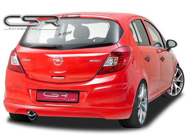 Opel Corsa D spoiler pod originální zadní nárazník