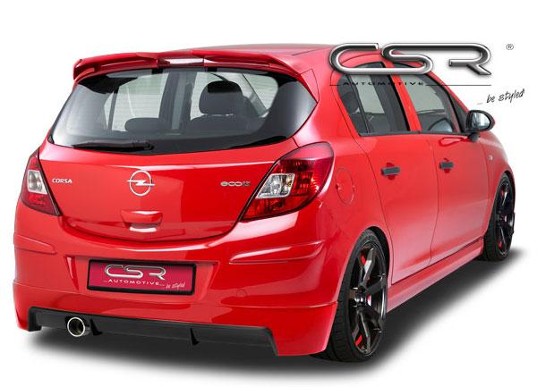 Opel Corsa D hatchback spoiler pod zadní nárazník