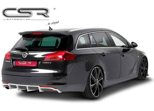 Opel Insignia A spoiler pod zadní nárazník s koncovkou výfuku vlevo
