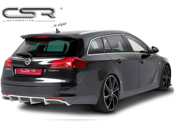 Opel Insignia A spoiler pod zadní nárazník bez výřezu pro koncovku výfuku