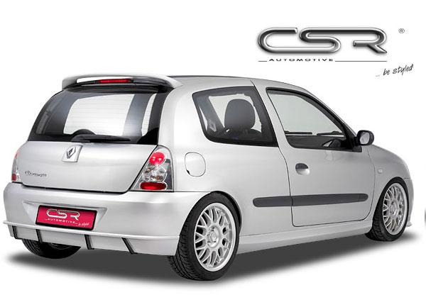 Renault Clio 2 spoiler pod originální zadní nárazník