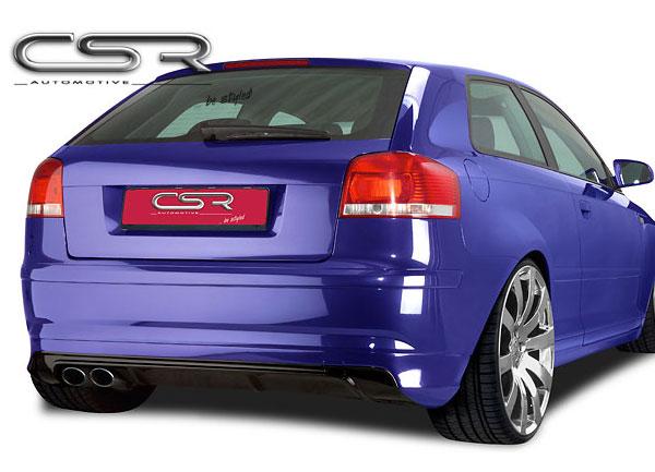 Audi A3 8P spoiler pod originální zadní nárazník (třídveřový model)
