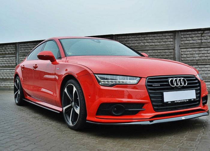 Audi A7 S-Line spoiler pod originální přední nárazník (Audi A7 S-Line pro rok výroby od 2014)