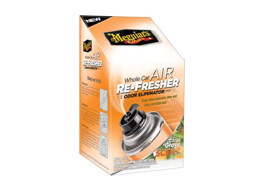 Meguiars Air Re-Fresher Odor Eliminator - Citrus Grove Scent - desinfekce klimat (desinfekce klimatizace + pohlcovač pachů + osvěžovač vzduchu, vůně citrusů, 71 g)