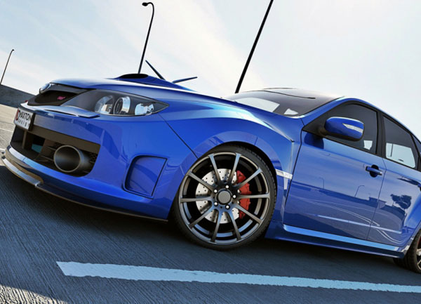 Subaru Impreza WRX STI spoiler pod originální přední nárazník 2009-11 (pro rok výroby 2009-2011)