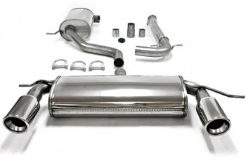 VW Golf 6 Duplex nerezový výfuk (1x100 mm VW GOLF 6 (5K) - 1.6/1.6FSI/2.0FSI/1.9TDI/2.0TDI+GVI 1.4I)