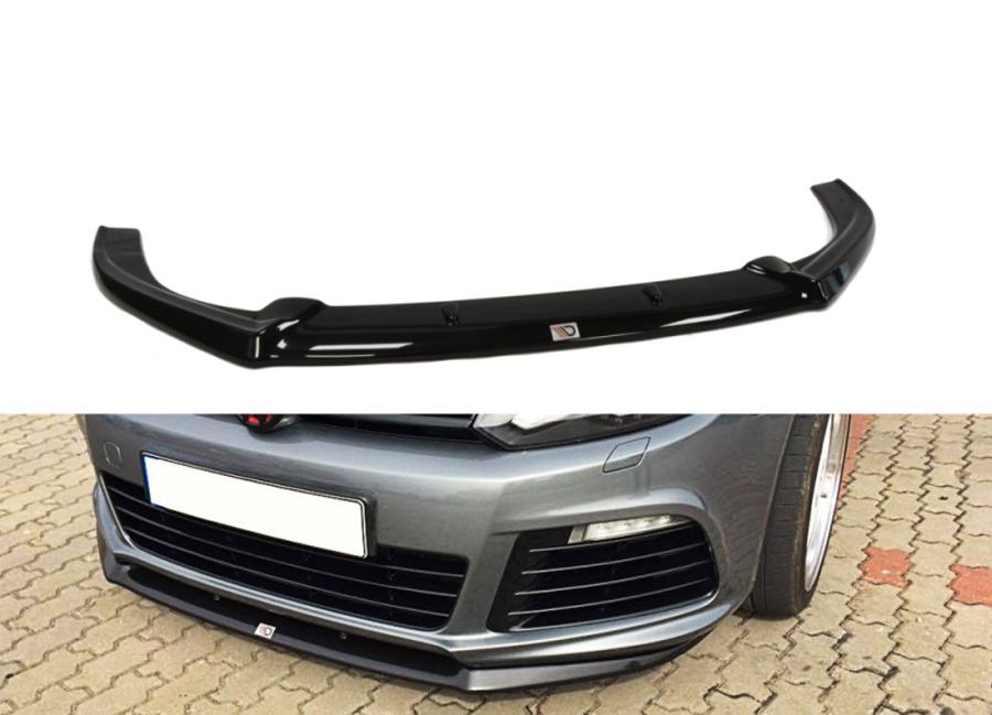 VW Golf VI R spoiler pod originální přední nárazník Cupra look (pro rok výroby 2008-2012)