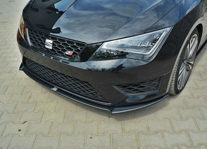 Seat Leon 5F Cupra - FR spoiler pod originální přední nárazník (pro rok výroby od 2012)