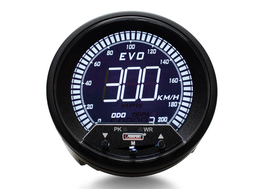Přídavný rychloměr-tachometr 85 mm (s možností měření pomocí GPS)