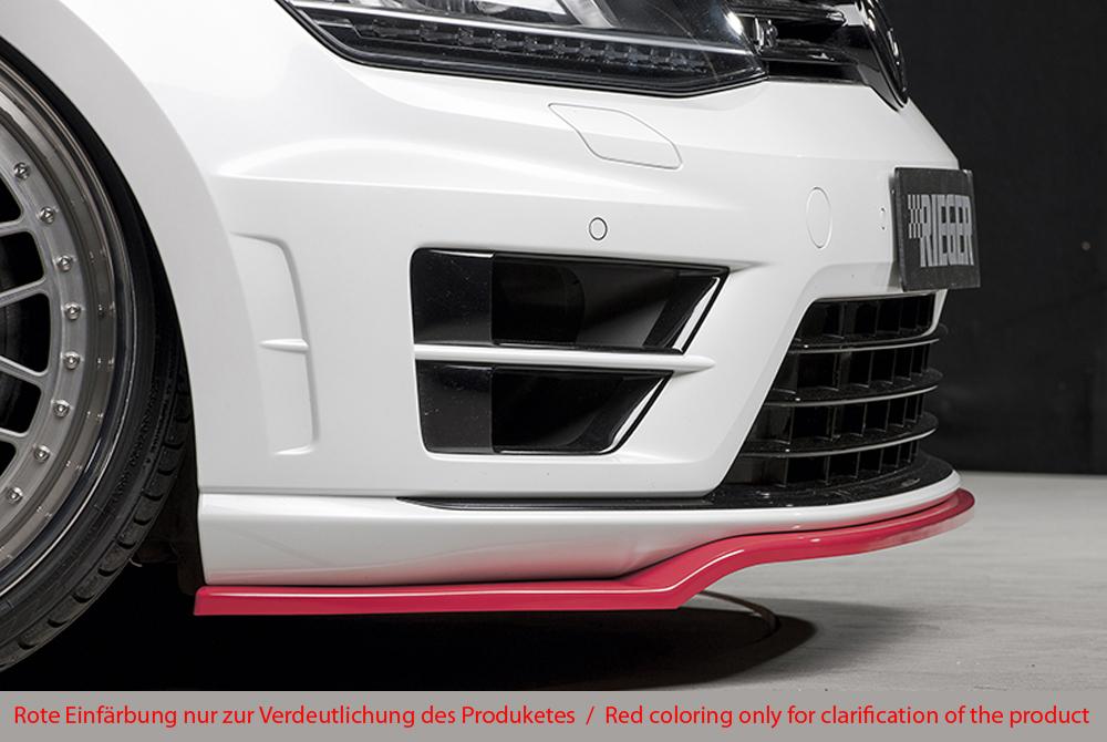 VW Golf VII R spoiler pod přední nárazník (černý spoiler)