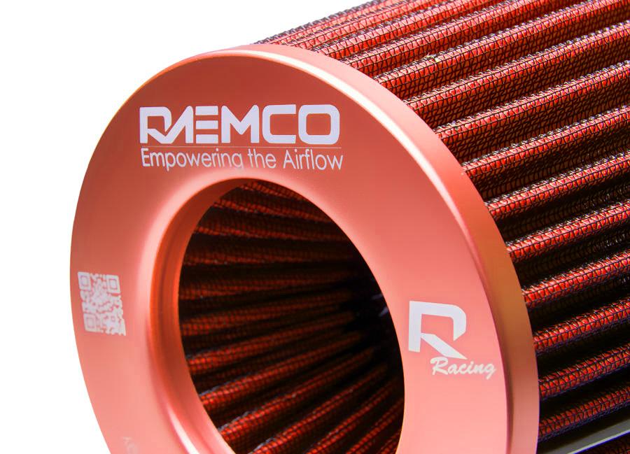 Univerzální vzduchový filtr oranžový se vstupem 77 mm (Filtr Raemco 77 mm)