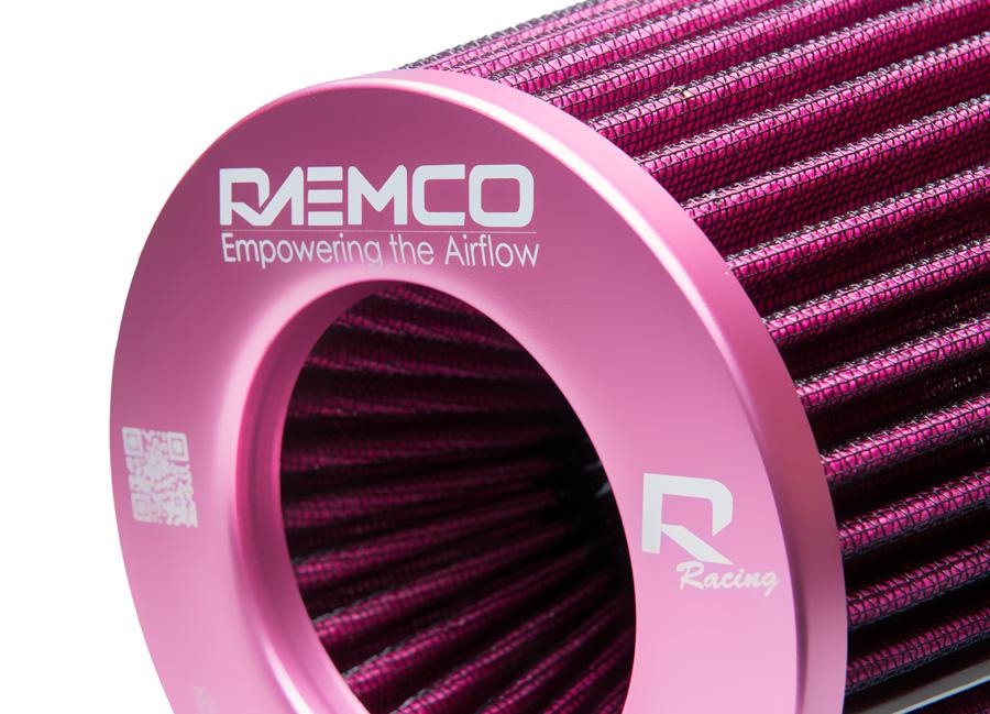 Univerzální vzduchový filtr růžový se vstupem 77 mm