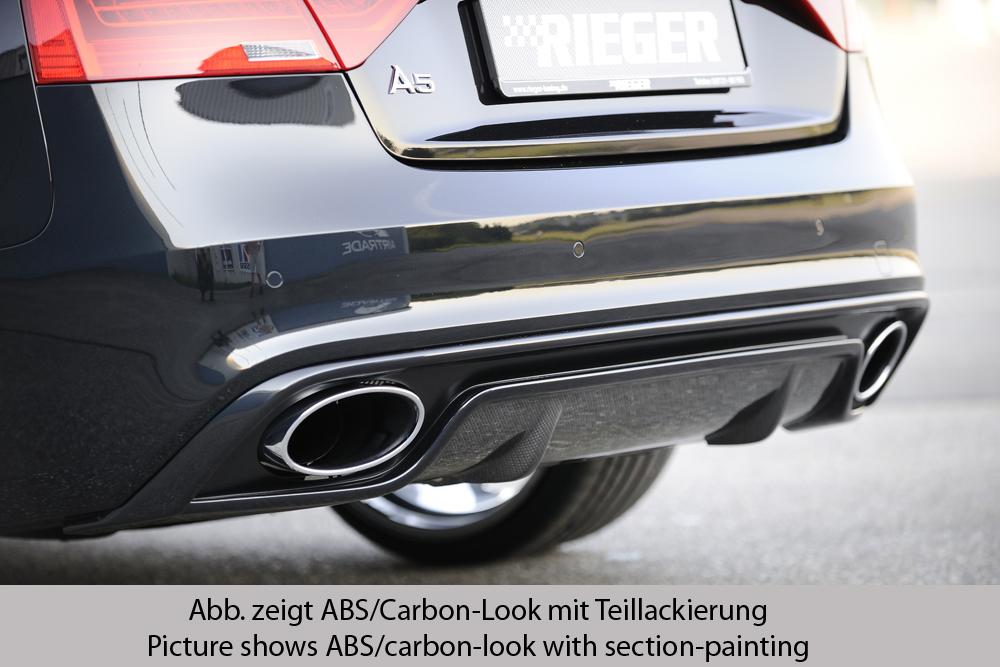 Audi A5 B8 Facelift spoiler pod zadní nárazník (Pod originální nárazník)