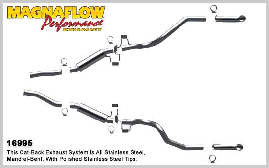 Magnaflow výfuk 16995 Ford Mustang 5.0L V8 GT,LX 1987-93 (Magnaflow 16995 kompletní výfuk)