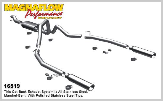 Magnaflow výfuk 16519 Ford F-150 4.6L a 5.4L V8 2009-10 (Magnaflow 16519 kompletní výfuk)