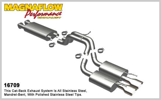 Magnaflow výfuk 16709 Jeep Grand Cherokee 6.1L V8 a SRT-8 2006-10 (Magnaflow 16709 kompletní výfuk)