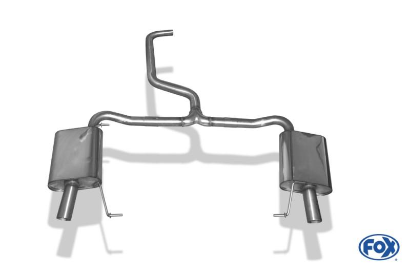 Škoda Octavia III RS 5E - TSI sportovní tlumiče výfuku