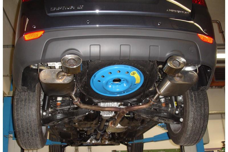 Chevrolet Captiva KLAC tlumiče výfuku s koncovkou 115x85