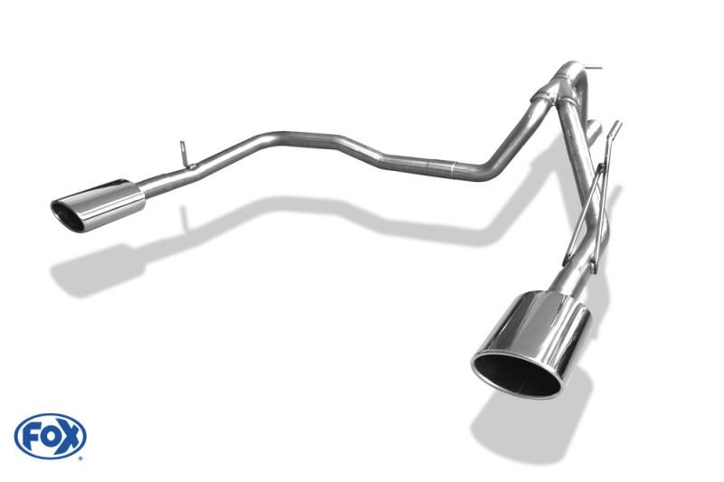 Dodge Nitro dvojitá koncovka výfuku 140x90