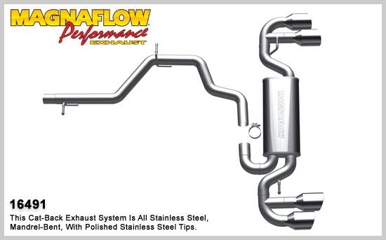 Magnaflow výfuk 16491 Audi TT S 2.0L Quattro 2009-14 (Audi TT 2.0L Quattro S model)