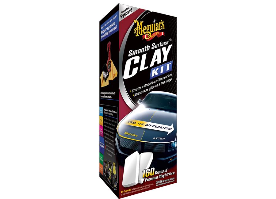 Meguiars Smooth Surface Clay Kit (sada pro odstranění odolných nečistot z laku)