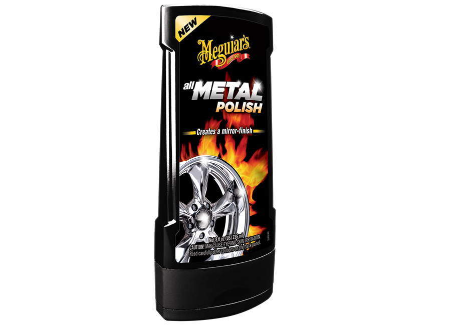 Meguiars leštěnka na kovy Hot Rims All Metal Polish - 236ml (tekutá leštěnka na kovy)