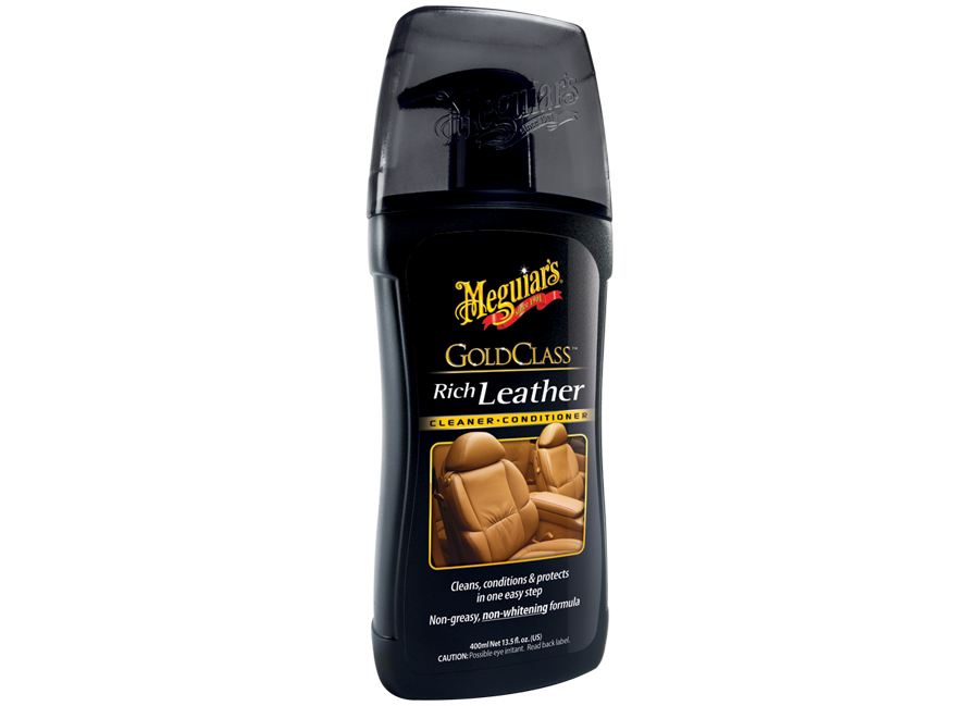Meguiars Gold Class Rich Leather Cleaner - 400 ml (čistič a kondicionér na kůži)