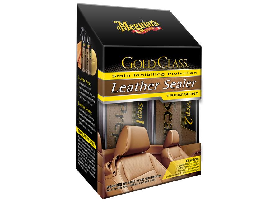 Meguiars Gold Class Leather Sealer Treatment (sada pro hloubkové čištění a dlouhodobou ochranu kůže)