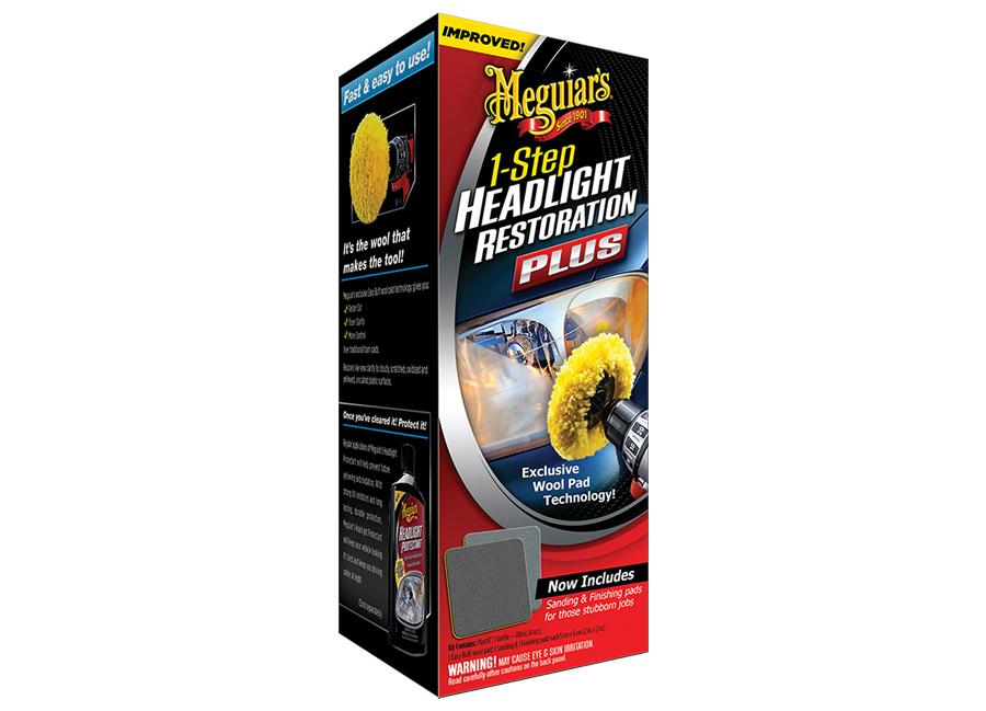 Meguiars sada na oživení skel světlometů One Step Headlight Restoration Kit